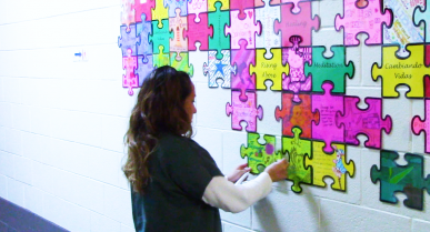 Women at the Willacy Facility Put the Puzzle Pieces of their life together during special event