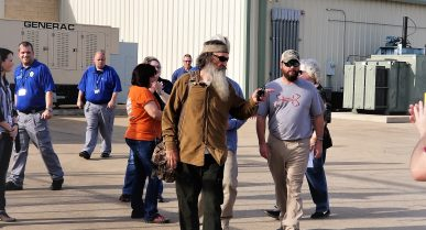 Reality TV Show Star Phil Robertson Encourages Men and Women at the East Texas Facility to Be Better