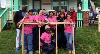 NEWS: Female volunteers from Flint Hills Job Corps helping build new playhouse