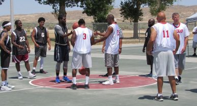 NEWS: Inmates play basketball with Bakersfield Elite team