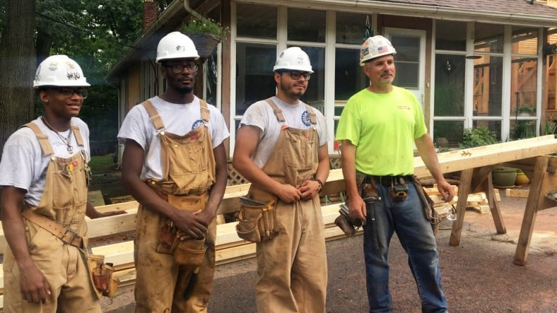Building Construction Students at Edison Job Corps Learn and Lend a Hand