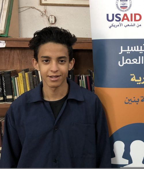 Khaled El Bakry, a third-year student at El Salam Technical School in Alexandria