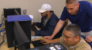 Learning Advanced Computer Skills at the Dalby Facility Helps Men Prepare for Jobs