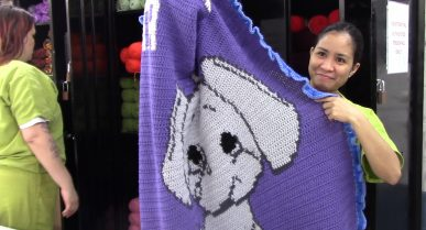 Blankets to Keep Seniors Warm Thanks to Women at MTC's Otero Facility