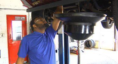 A Cincinnati Job Corps Student is Preparing for His New Career at Midas