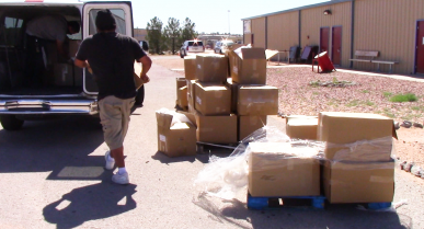 Otero County Processing Staff Provide Help to Local Shelter During Challenging Times
