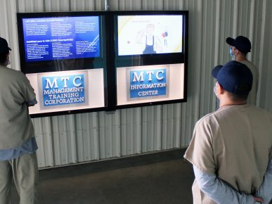 Dalby Facility Uses New Monitors to Share Important Information with Inmates